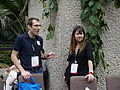James Heilman and Lori on the conservatory terrace at Wikimania 2014 01.jpg