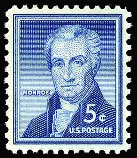 James Monroe 1954 Issue-5c
