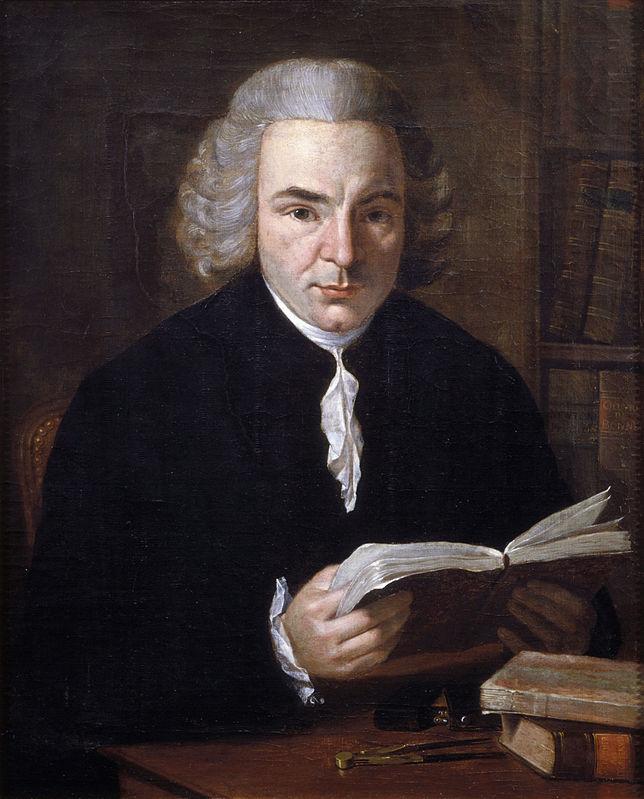 Портрет нидерландского математика и физика Яна Гендрика ван Свиндена работы неизвестного художника (около 1785-1790)