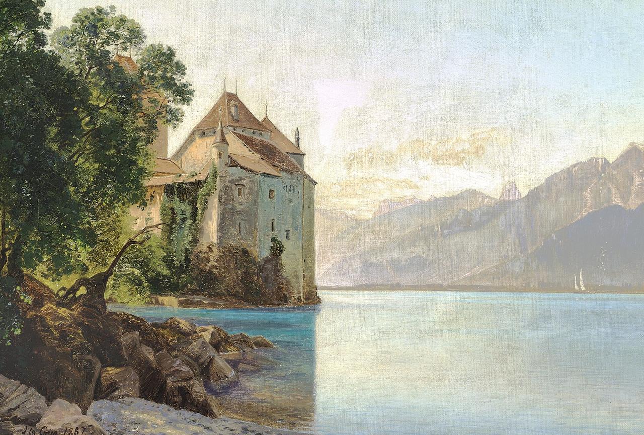 Янус ла Кур - Fra Genfersøen - 1887.png