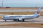 Japan Air Lines ,JL2505 ,Boeing 737-846 ,JA348J ,Departed to Sapporo ,Kansai Airport (16624141109).jpg