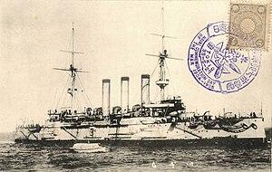 2nd Special Squadron (Japanese Navy) - Image: Japanese cruiser Izumo