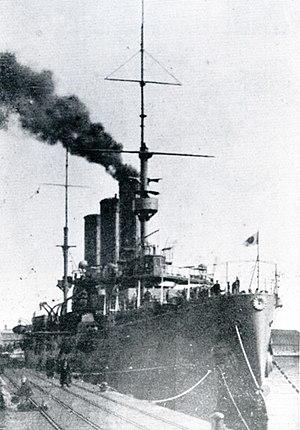 Japanese cruiser Tsugaru - Image: Japanese cruiser Tsugaru in 1914