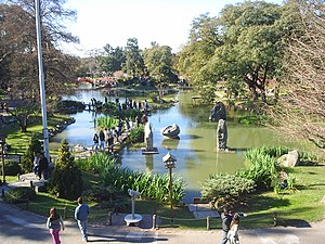 Japanese Argentines - Buenos Aires Japanese Gardens. The gardens were inaugurated on occasion of a State visit to Argentina by then-Crown Prince Akihito and Princess Michiko of Japan.
