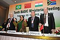 Jayanthi Natarajan with the Environment Ministers of BASIC countries (Brazil, South Africa, China and India) at the press conference after the conclusion of their meeting, in New Delhi on February 14, 2012.jpg
