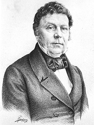 Blaafarveværket - Benjamin Wegner, the director-general from 1822 to 1849, during Blaafarveværket's heyday