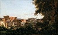Jean-Baptiste-Camille Corot - The Coliseum Seen from the Farnese Gardens - WGA05280.jpg