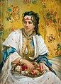 Jean-François Portaels - Oriental beauty with flowers.Jpeg