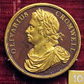 Jean dassier, med. di oliver cromwell, 1658, br. in parte dorato.JPG