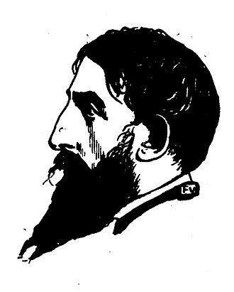 Portrait de Jehan-Rictus par Félix Vallotton paru dans Le Livre des masques (vol. II, 1898).