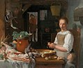 Jeremias van Winghe (Attr.) - Kitchen interior with a maid and a child peeling apples.jpg