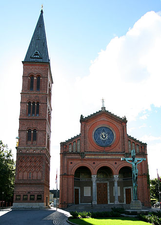 Vilhelm Dahlerup - The Jesus Church, Valby, Copenhagen (1885-91) with the Campanile (1894-95)