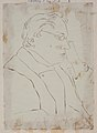 Johan Ludvig Runeberg. Drawing by Maria Prytz, 1930th, Society of Swedish Literature in Finland, Runebergbibliotekets bildsamling, slsa1160 337.jpg