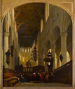 John Robinson (pastor) - The Pieterskerk in Leiden by Johannes Bosboom