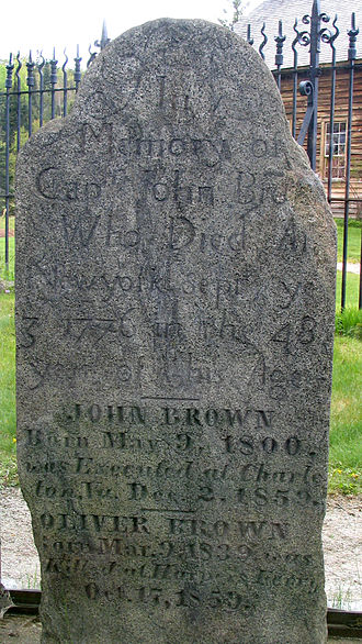 John Brown Farm State Historic Site - Image: John Brown's Tombstone