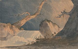 Waterfall in a Desolate Landscape