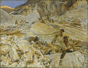John Singer Sargent - Bringing Down Marble from the Quarries to Carrara (1911).jpg