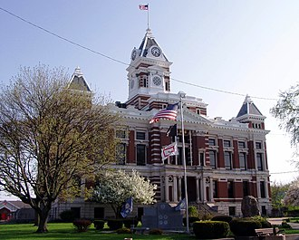 Franklin, Indiana - Johnson County courthouse in Franklin