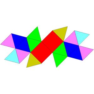Sphenomegacorona - Image: Johnson solid 88 net