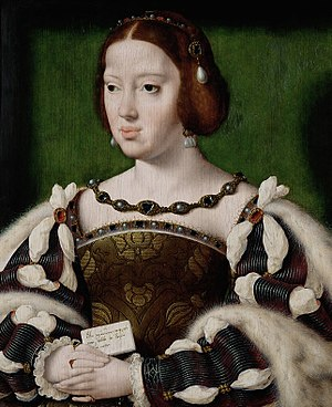 Eleanor of Austria - Portrait by Joos van Cleve, c. 1530