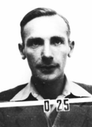 ID badge photo from Los Alamos National Laboratory, 1944.