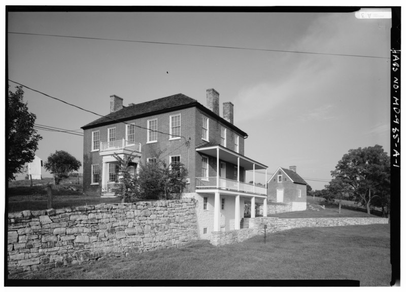File:Joseph Sherrick Farm, House, Burnside Bridge Road (Rural Route 1), Sharpsburg, Washington County, MD HABS MD,22-SHARP.V,3A-1.tif