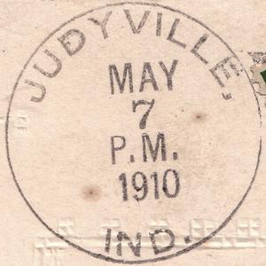 Judyville, Indiana - A 1910 postmark