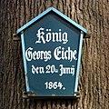 König Georgs Eiche-Namensschild.JPG