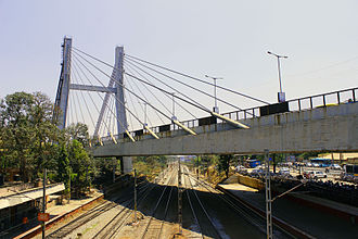 Krishnarajapuram - Suspension Bridge on Old Madras Road(NH-4), above Krishnarajapuram Railway Station.