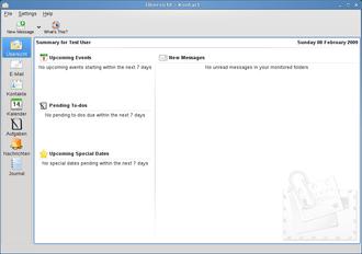 Kontact - Image: KDE4.2 Kontact