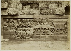 KITLV 28060 - Kassian Céphas - Relief of the hidden base of Borobudur - 1890-1891.tif