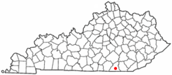 Location of Stearns, Kentucky