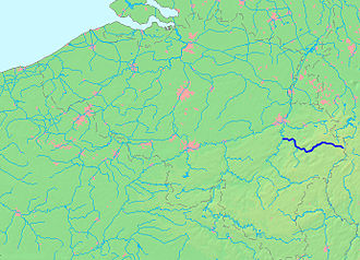 Amblève (river) - Image: Kaart Amblève