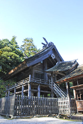 Taisha-zukuri - Image: Kamosu jinja