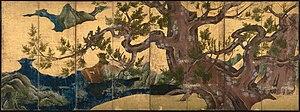 Kanō Eitoku - Cypress Trees