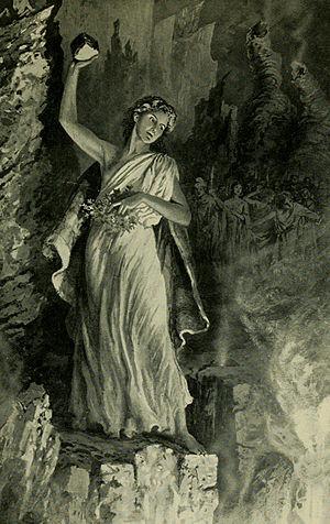 Kapiʻolani (chiefess) - Image: Kapiolani defying Pele