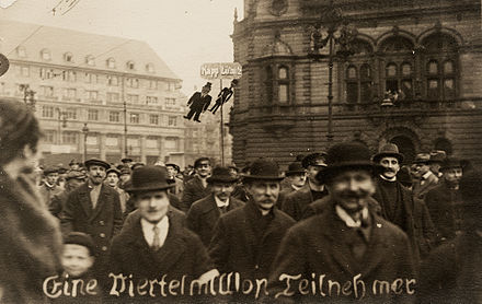 "Demonstration in Berlin against the putsch. The caption reads: ""A quarter million participants"" Kapp demo.jpg"