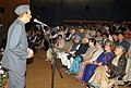 Karan Singh addressing at a cultural programme on the occasion of 122nd birth anniversary of Pandit Jawaharlal Nehru, in New Delhi. The Vice President, Shri Mohd. Hamid Ansari, the Prime Minister.jpg