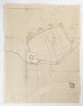 Karta över befäst stad intill flod - Skoklosters slott - 98083.tif