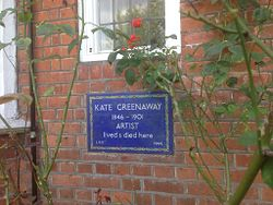 Photo of Kate Greenaway blue plaque