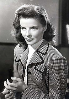 Film still of Hepburn in Woman of the Year