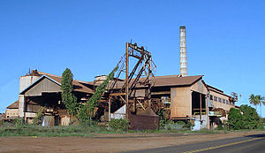 Hawaii Democratic Revolution of 1954 - Kekaha sugar mill once owned by Amfac, Inc., one of the Big Five.