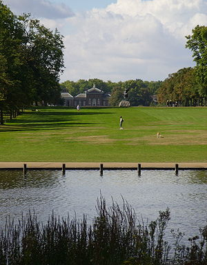 Kensington Gardens - View across The Long Water to Kensington Palace