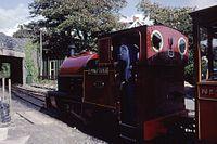 Kerr Stuart 0-4-2ST No. 4047 of 1921. Talyllyn Railway No. 4 'Edward Thomas' (ex-Corris Rly) Tywyn Wharf, Wales 17.8.1992 (10196720236).jpg