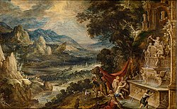 Kerstiaen de Keuninck: Landscape with Diana and Actaeon