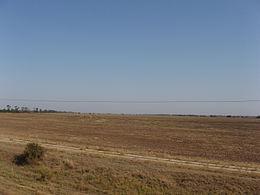 La steppe près de kherson dans le sud de l ukraine