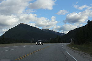 Kicking Horse Pass - Image: Kicking Horse Pass BC AB on the Trans Canadian Highway August 2013