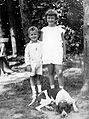 Kid, dog, double portrait, kids, summer Fortepan 8157.jpg