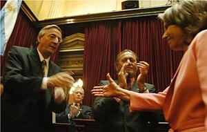 Hilda González de Duhalde - Hilda Duhalde with Nestor Kirchner in December 2005