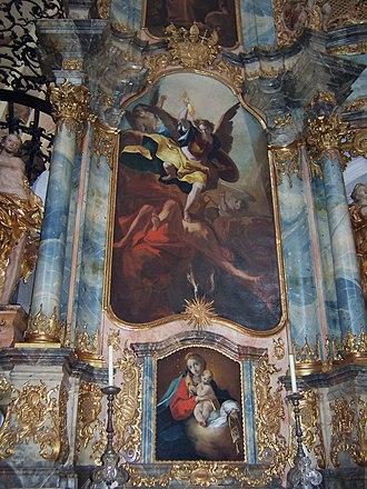 Muri Abbey - Image: Klosterkirche Muri.Michaelsaltar